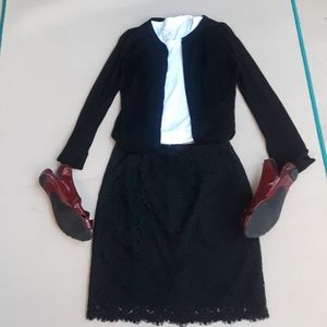 Ann Taylor Black Lace Skirt - Size 2P